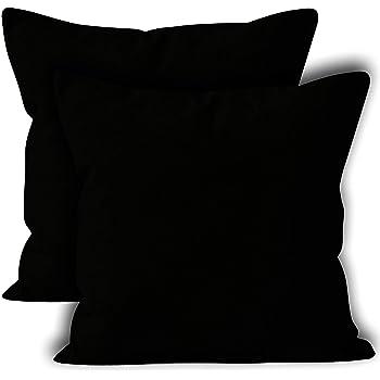 Encasa Homes Fundas de Cojines 2 Piezas (60 x 60 cm) - Negro ...