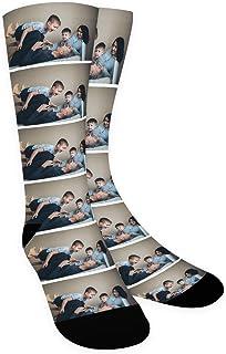 Zhovee, Calcetines personalizados, perro, gato, cara de mascotas Calcetines con imagen para amantes de las mascotas, cara personalizada de calcetines