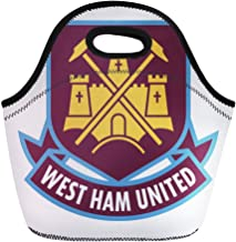 Semtomn Lunch Bags League London England Feb 24 of West Ham United Neoprene Lunch Bag Lunchbox Tote Bag Portable Picnic Bag Cooler Bag