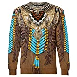 YUEJINGCHI Men Women Graphic Sweatshirt Casual 3D Ethnic Indian Print Sweatshirt Tops Blouse Plus Size K10 M