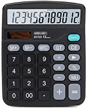 $26 » Office Supplies Calculator Calculator Solar Battery Power with Display Big Sensitive Button 12-Digit Solar Battery Basic C...