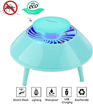 FishOaky USB Eléctrico Repelente Mosquito Tropical, Mata Mosquitos Electrico, Anti Mosquitos Killer, UV Lámpara Antimosquitos para Mosquitos para los Hogares, Patios, Jardines, Oficinas, Tiendas