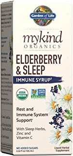 Garden of Life Elderberry Zinc Immune Support for Adults and Kids 12 and Older with Vitamin C - mykind Organics Elderberry...