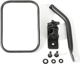 Rugged Ridge 11025.18 Textured Black Pair Rectangular Quick Release Mirror Kit