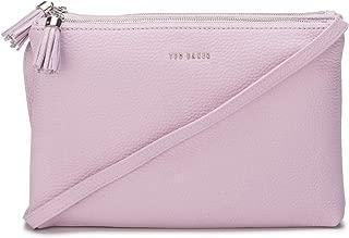 Ted Baker Womens Maceyy Tassel Leather Double Zip Cross Body Bag
