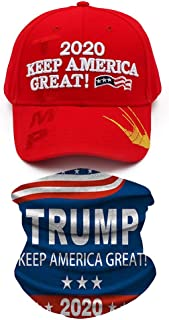 Donald Trump 2020 Hat Keep America Great Hat USA Cap Bucket Hat with 2020 Trump Face Mask