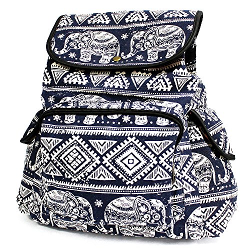 Traveller Backpacks - 3 Pocket Blue Elephant-TBP-02