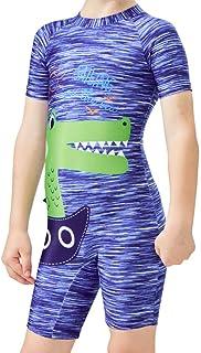 طقم سباحة Carrack Kid قطعة واحدة Rash Guard ملابس سباحة قصيرة للرياضة المائية بعامل حماية من أشعة الشمس 50+ حماية من الشمس...