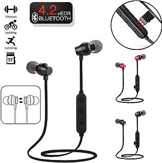 Shinesky Wireless Bluetooth TF MP3 Flash Memory Card SD Card 4.2 Stereo Sports Headphone (Black)