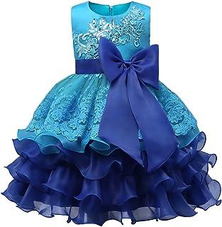 XFentech 花 結婚式 入園式 花嫁介添人 レス ノースリーブ お嬢様 ドレス 子供ドレス 女の子