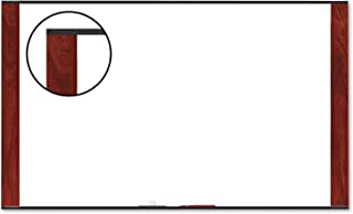 3M Dry Erase Board, 96 x 48-Inches, Widescreen Mahogany-Finish Frame