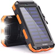 20000mAh Solar Power Bank Solar Charger Waterproof Portable Battery Charger with Compass for iPad...