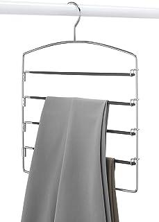 Ivaan Pant Hanger for Wardrobes, Trouser Hanger for Wardrobes, Black 5 Tier. (One Pant Hanger)
