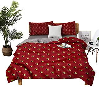 dsdsgog 3 Sets of Bedding Double Bedroom Lannel Sheet Queen Ancient Warrior Equipment Winter Bedding W68 xL85 Zippered Quilt Cover and 2 Envelope Pillowcases