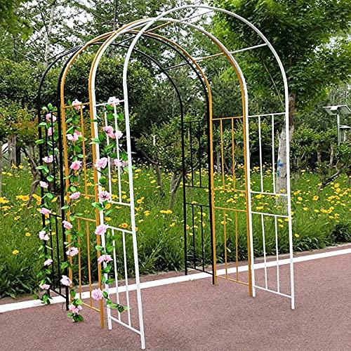CHEIRS Arco de jardín de metal, resistente jaula tubular, jardín al aire libre, patio, boda, 300 x 240 cm