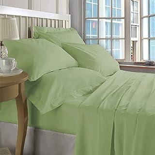 ZECOTT 100% Cotton Sheet Set King-Celdon Green Sheet Sets King Size-400 Thread Count Sheets King-Long Staple Cotton King S...