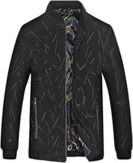 Men's Jacket Spring and Autumn Men's Casual Business Windproof Breathable Increases Loose Baseball Collar