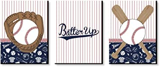Big Dot of Happiness Batter Up - Baseball - Sports Themed Nursery Wall Art, Kids Room Decor and Game Room Home Decorations - Christmas Gift Ideas - 7.5 x 10 inches - Set of 3 Prints