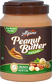 Alpino Natural Peanut Butter Crunch 2.4 KG (Unsweetened / Gluten Free / Non-GMO / Vegan)