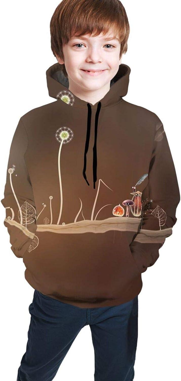 Boys Girls Hoodie, Art Unisex 3D Printing Teenager Sweatshirt Kids Children's Sweater for Age 7-20