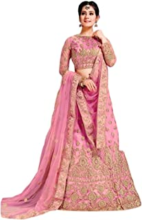 Step N Shop Women Net Lehenga Choli Satin Embroidery Indian Bollywood Designer Ready to Wear Weeding Function Engagement R...