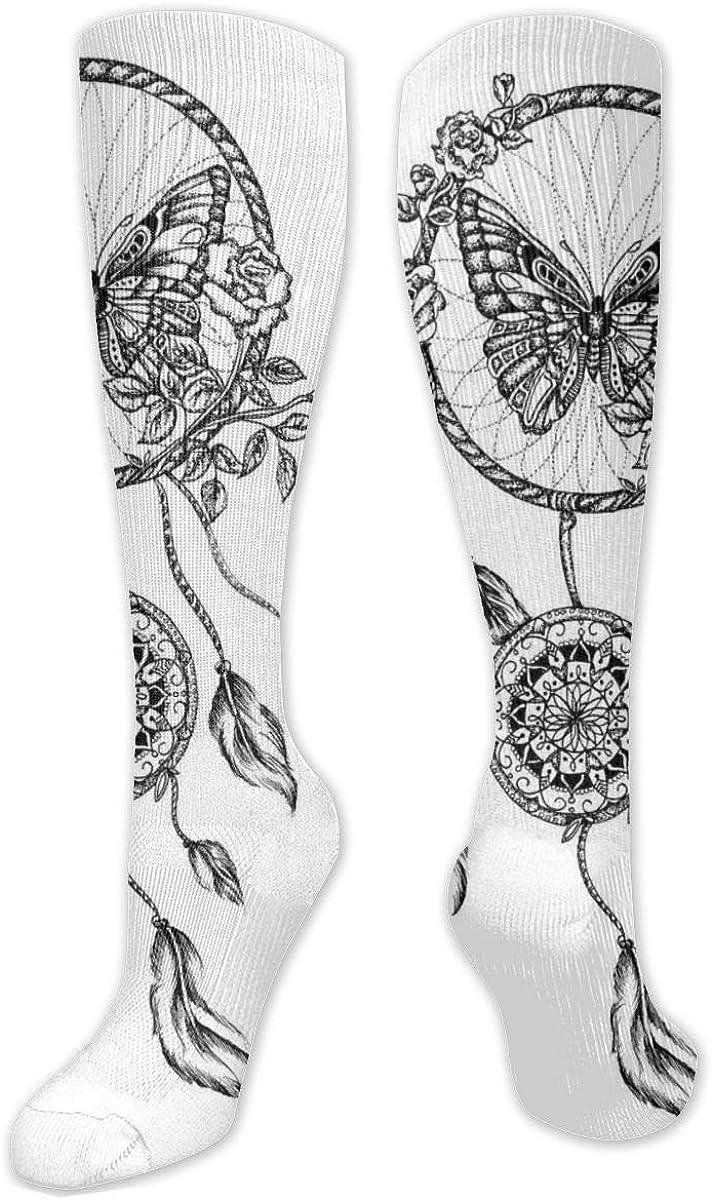 Dreamcatcher Knee High Socks Leg Warmer Dresses Long Boot Stockings For Womens Cosplay Daily Wear