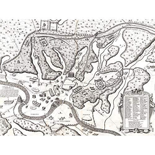 Map Du Perac 1573 Ancient Rome Hills City Plan Chart Extra L