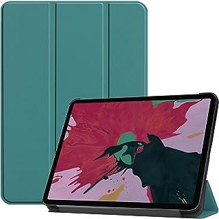 جراب بمسند ذكي رفيع لهاتف Apple iPad Pro 11 2018 غطاء من الجلد الصناعي - أخضر مائل إلى الخضرة