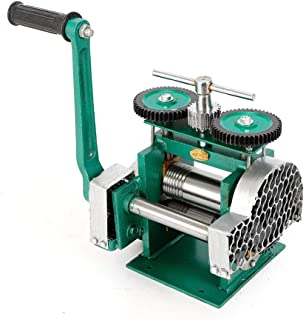 Manual Rolling Mill Machine, 85mm Jewelry Press Tabletting Roller Drawing Handle Stainless Reducing Thickness of Sheet Jewelry Tool (US Stock)