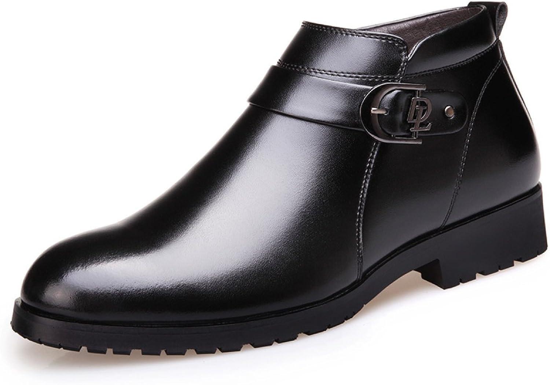 GTYMFH Winter Herren Herren Herren Stiefel Herren Stiefel Baumwollstiefel England Mode Business Lederstiefel  41026a
