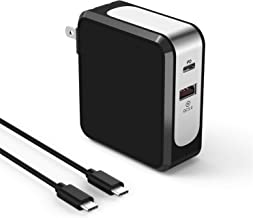 VOGEK USB C Fast Wall Charger, 48W Dual Port Charger with Power Delivery & Quick Charge 3.0 Fast Charge Compatible with MacBook Air/iPads, Google Pixel/Pixel XL, SamsungS10/S9/S8