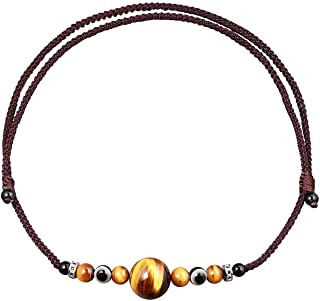 Jewever Tiger Eye Evil Eye Choker Necklace for Women and Men Charms Healing Crystal Beads for Chokers Jewelry Unisex