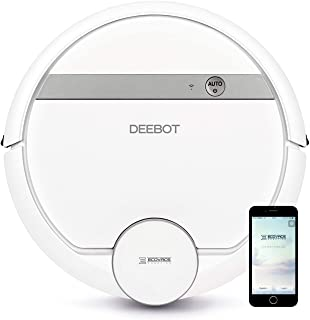 Ecovacs Deebot 907 Smart Robotic Vacuum, Carpet, Bare Floors, Pet Hair + Mapping Technology, High Suction Power, WiFi, wit...