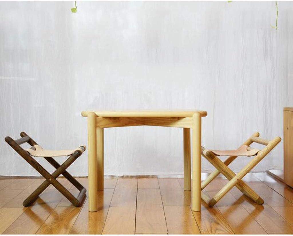 YXDEW Artiste Président de Petits Chevaux, en Bois Massif, Bois, Enfants Mignon Pliant Tabouret, Banc de Type Chaise ménage, Tabouret Pliant (Color : Black) White