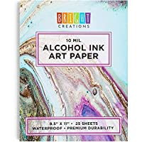 アルコールインクパッド アートペーパー (8.5 x 11インチ 25枚)