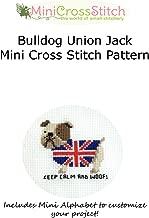 Bulldog Union Jack Mini Cross Stitch Pattern