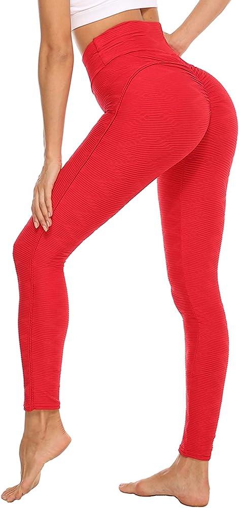 Durofit, pantaloni sportivi donna yoga a nido d`ape,leggings fitness palestra, in 92% poliestere e 8