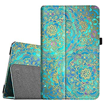 Fintie Folio Case for Samsung Galaxy Tab E 9.6 - Slim Fit Premium Vegan Leather Cover for Tab E/Tab E Nook 9.6-Inch Tablet  SM-T560/T561/T565 & SM-T567V Verizon 4G LTE Version  Shades of Blue