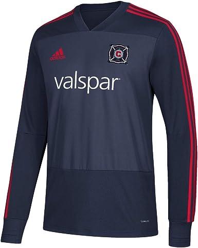 Amazon.com : adidas Chicago Fire MLS Men's Navy Blue Climacool ...