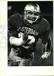 1991 Press Photo Amsterdam football player #42 Justice Smith - star running back