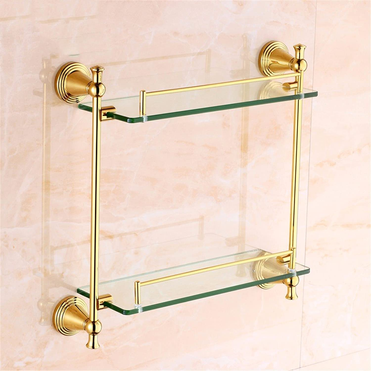 LAONA Euro-copper gold Bathroom Wall is a built-in shelf toilet paper holder Toilet brush, built-in shelf 2