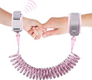 Looife Magnetic Lock Anti Lost Wrist Link, Toddler Safety Flexible Leashes (Pink, 2M)