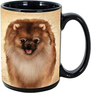 Imprints Plus Dog Breeds (E-P) Pomeranian 15-oz Coffee Mug Bundle with Non-Negotiable K-Nine Cash (pomeranian 128)