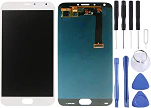 شاشة الهاتف المحمول LCD iPartsBuyLCD Screen + Touch Screen, LCD Screen and Digitizer Full Assemblyfor Meizu MX5 (Black) شاشة عرض من الكريستال السائل (Color : White)