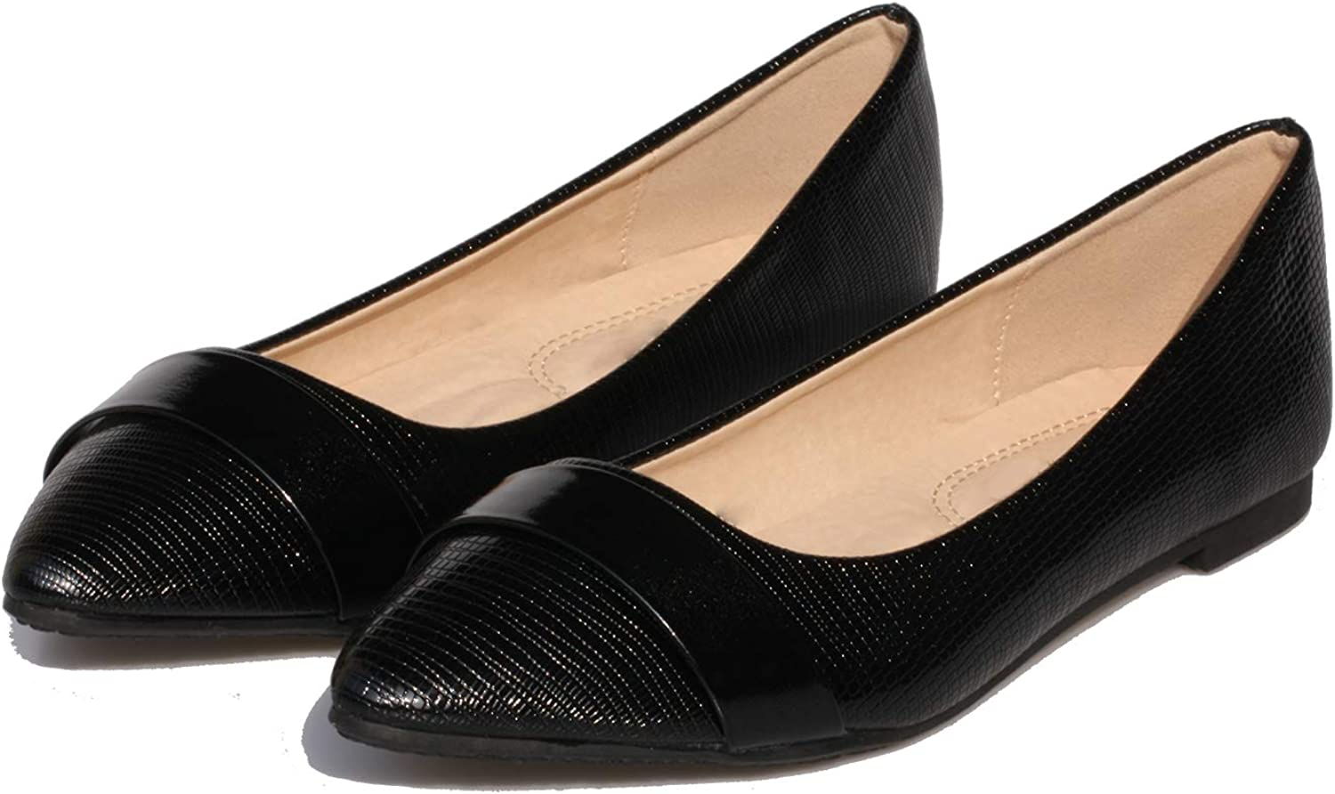 Women's Slip on Flats Pointy Toe Band Tucson Max 66% OFF Mall Decor Patent Leather Boat