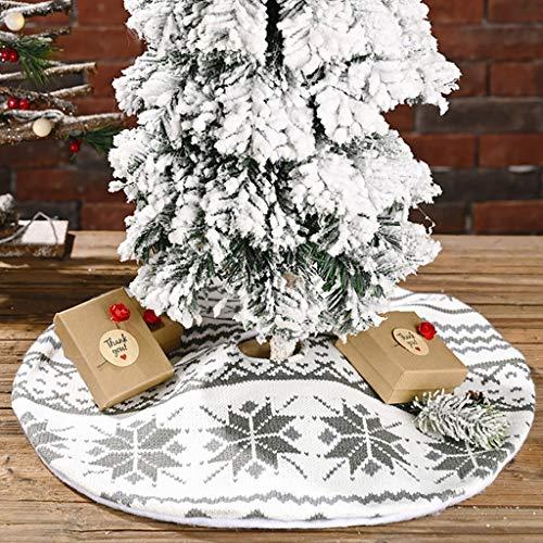 Fineday Knitted Snowflake Tree Skirt Mini Christmas Tree Skirt Tree Bottom Decoration, Home Decor 家居装饰 for Christmas (A)