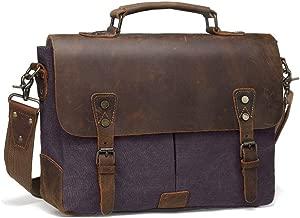حقيبة المراسلين للرجال والنساء | حقيبة كتف مع جيوب متعددة بسحاب وحقيبة مدرسية (لون رافين أسود)