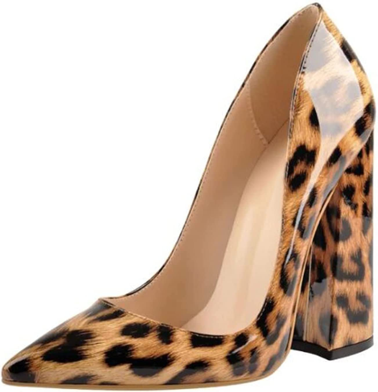 MOORRLII High Heels It is very High quality popular Pointed Shallow Thick Mout Heel