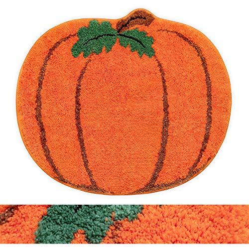 Halloween Funny Orange Bathmat