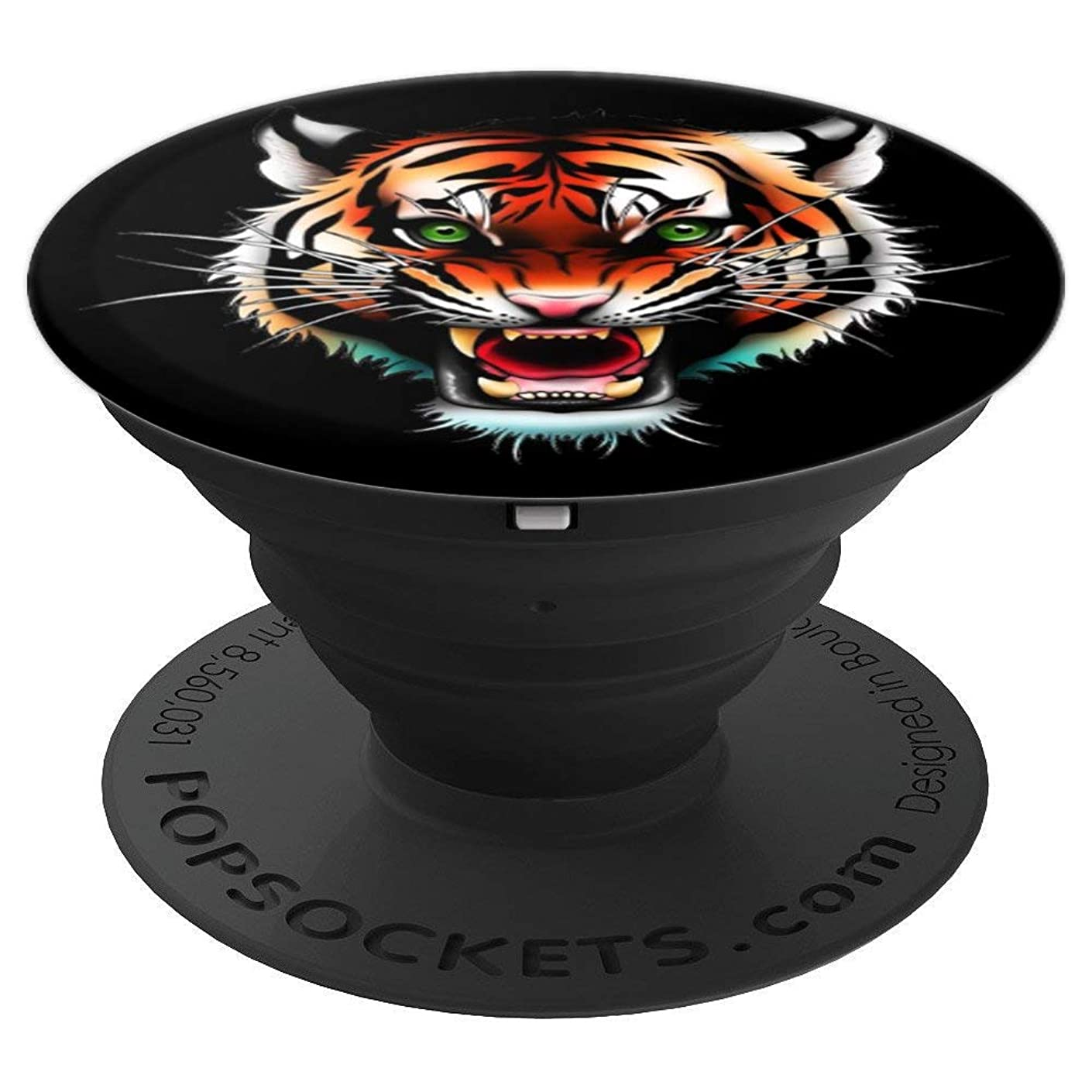 Scary Wild Tiger Face Shirt Protection Wild Animals Fan Gift PopSockets Grip and Stand for Phones and Tablets